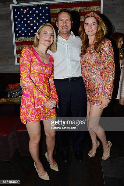 Andrea Canning Tony Bancroft and Gigi Howard attend Andrea Greeven Douzet's Birthday Celebration at The Tuck Room on October 19 2016 in New York City