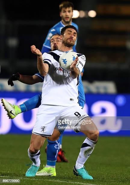 Andrea Caracciolo of Brescia Calcio in action during the Serie B match between Empoli FC and Brescia Calcio at Stadio Carlo Castellani on December 21...