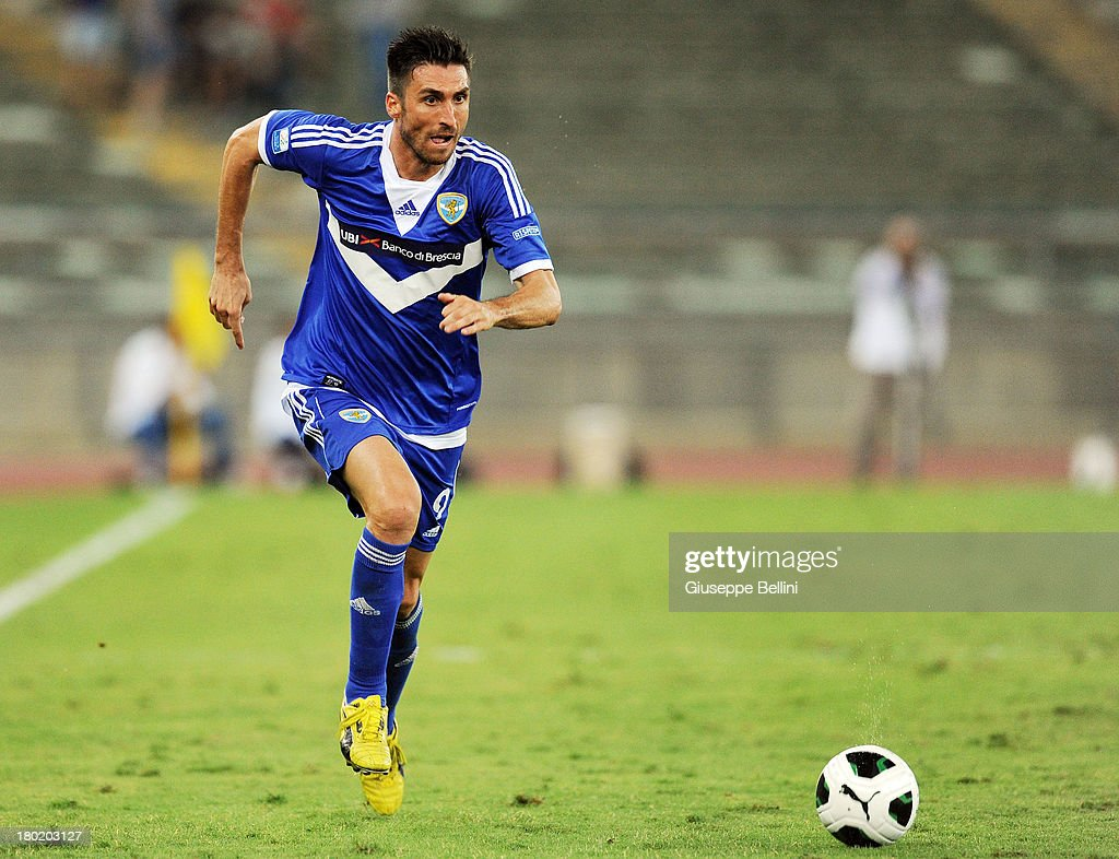 Andrea Caracciolo of Brescia in action during the Serie B match between AS Bari and Brescia Calcio at Stadio San Nicola on August 31, 2013 in Bari, Italy.
