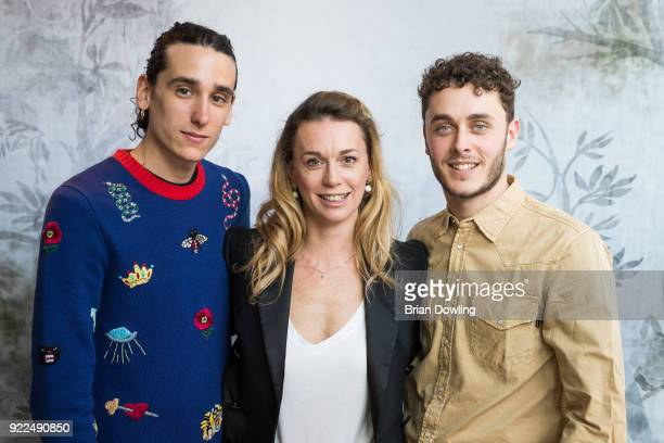 Andrea Carpenzano Milena Mancini and Matteo Olivetti pose during the 'Boys Cry' portrait session during the 68th Berlinale International Film...