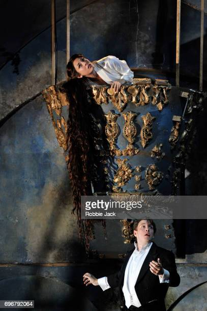 Andrea Carroll as Melisande and Jonathan McGovern as Pelleas in Garsington Opera's production of Claude Debussy's Pelleas et Melisande at Garsington...
