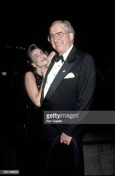Andrea Casden and Ed McMahon during 63rd Annual Academy Awards After Party at Spago's Hosted by Swifty Lazar at Spagos in West Hollywood California...
