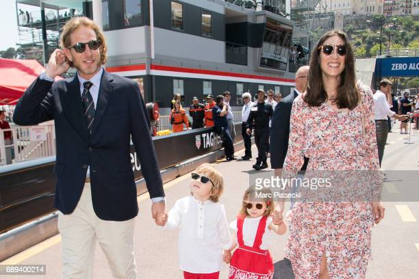 Andrea Casiraghi Alexandre Casiraghi India Casiraghi and Tatiana Santo Domingo attend the Monaco Formula 1 Grand Prix at the Monaco street circuit on...