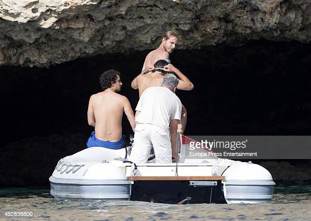 Andrea Casiraghi and Alex Dellal are seen on July 25 2014 in Ibiza Spain