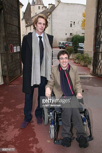 Andrea Casiraghi and Mathieu Chatelin attend the annual wine auction at Hospices de Beaune on November 15 2009 in Beaune France