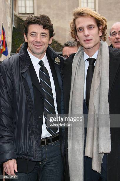 Andrea Casiraghi and Patrick Bruel attend the annual wine auction at Hospices de Beaune on November 15 2009 in Beaune France