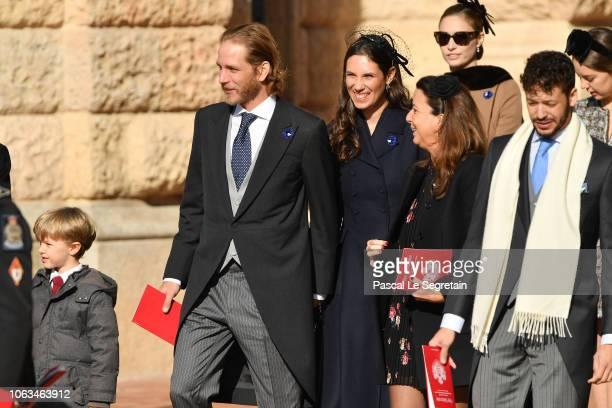 Andrea Casiraghi and Tatiana Casiraghi attend Monaco National Day Celebrations on November 19 2018 in MonteCarlo Monaco