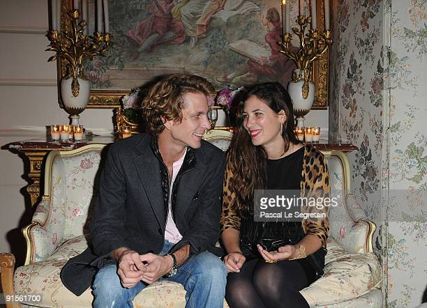 """Andrea Casiraghi and Tatiana Santo Domingo attend the launch of new Jewellery collection """"NEREE for ERE"""" by Repossi at the Ritz Hotel on October 7,..."""