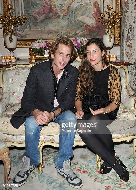 Andrea Casiraghi and Tatiana Santo Domingo attend the launch of new Jewellery collection NEREE for ERE by Repossi at the Ritz Hotel on October 7 2009...