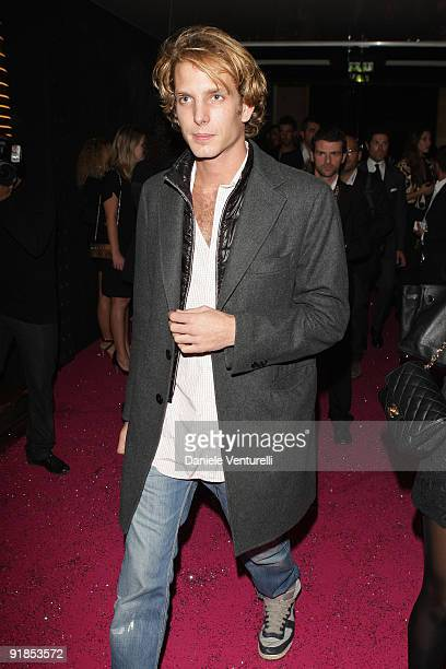Andrea Casiraghi attends Fendi 'O' party For Pixie Lott at the VIP ROOM Theater on October 6 2009 in Paris France