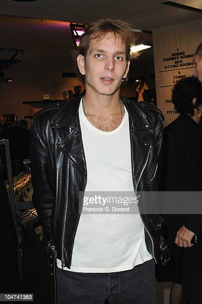 Andrea Casiraghi attends the 'HM Champs Elysees' Designed by Jean Nouvel flagship opening during Paris Fashion Week Spring/ Summer 2011 on October 4...