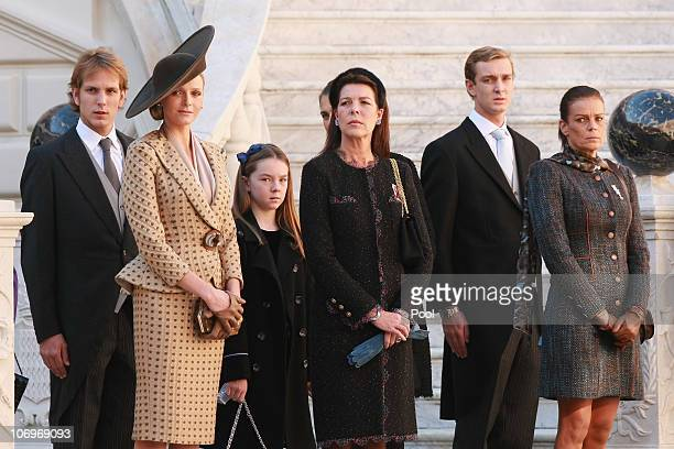Andrea Casiraghi Charlene Wittstock Princess Alexandra of Hanover Princess Caroline of Hanover Charlotte Casiraghi Pierre Casiraghi and Princess...