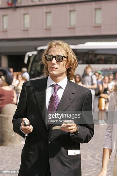 Andrea Casiraghi during Elle Macpherson and Arpad Busson in Rome for the Baptism of their Son Aurelius cy Andrea at Basilica Santa Maria Maggiore in...