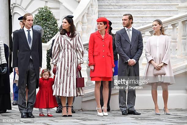 Andrea Casiraghi his daughter IndiaTatiana Santo DomingoCharlotte CasiraghiPierre Casiraghi and Beatrice Borromeo attend the Monaco National Day...