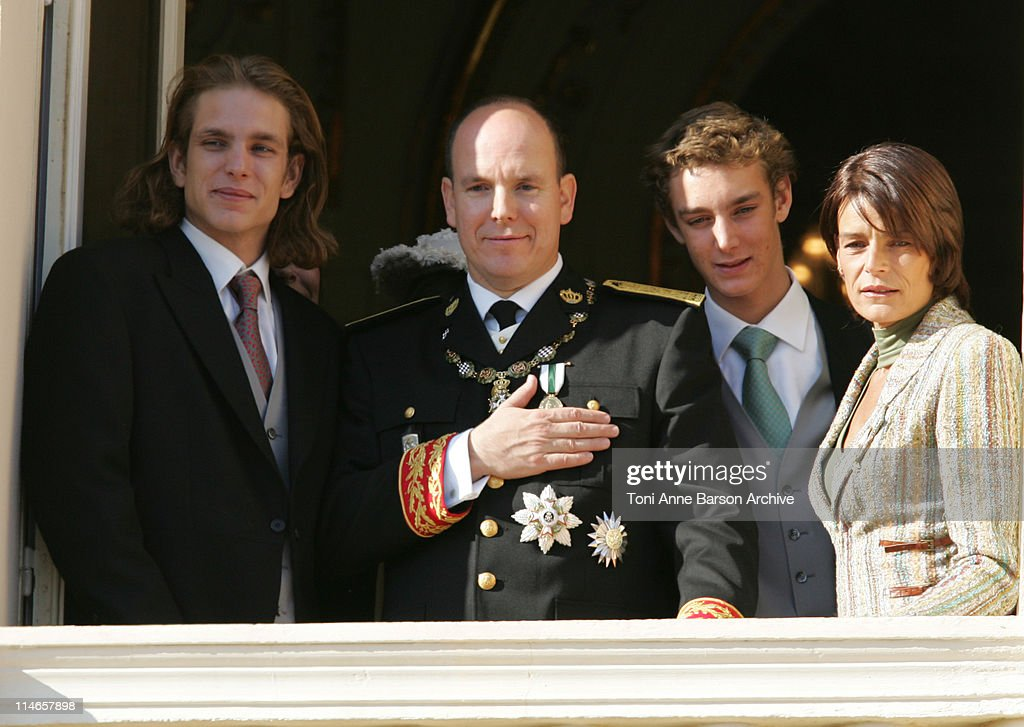 Andrea Casiraghi, HSH Prince Albert II of Monaco, Pierre Casiraghi and Princess Stephanie of Monaco