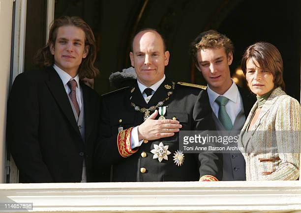 Andrea Casiraghi HSH Prince Albert II of Monaco Pierre Casiraghi and Princess Stephanie of Monaco