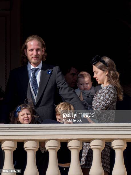 Andrea Casiraghi India Casiraghi and Princess Alexandra of Hanover with Francesco Casiraghi attend Monaco National Day Celebrations on November 19...