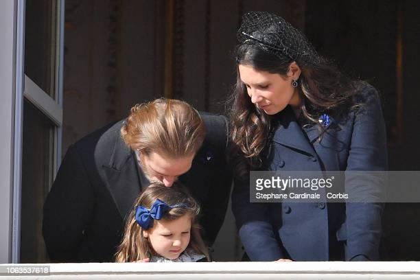 Andrea Casiraghi India Casiraghi and Tatiana Casiraghi attend Monaco National Day Celebrations on November 19 2018 in MonteCarlo Monaco
