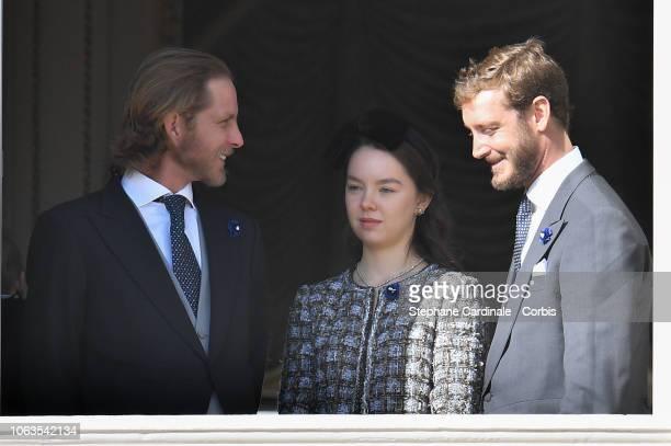 Andrea Casiraghi Princess Alexandra of Hanover and Pierre Casiraghi attend Monaco National Day Celebrations on November 19 2018 in MonteCarlo Monaco