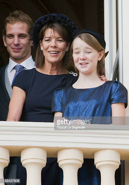 Andrea Casiraghi Princess Caroline of Hanover and Princess Alexandra of Hanover attend the National Day Parade as part of Monaco National Day...