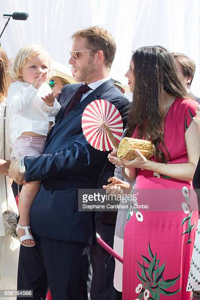 Andrea Casiraghi Sasha Casiraghi and Tatiana Casiraghi attend the First Day of the 10th Anniversary on the Throne Celebrations on July 11 2015 in...
