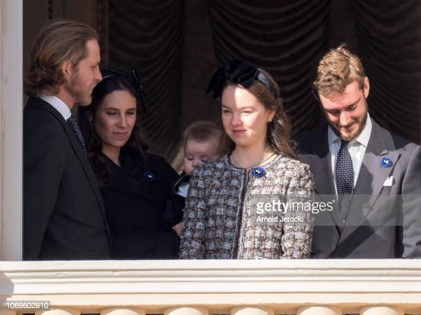 Andrea Casiraghi Tatiana Casiraghi Princess Alexandra of Hanover and Pierre Casiraghi attend Monaco National Day Celebrations on November 19 2018 in...