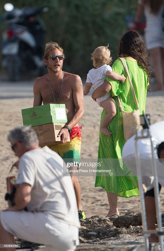 Andrea Casiraghi and Tatiana Santo Domingo Sighting in Ibiza - July 25, 2014 : News Photo