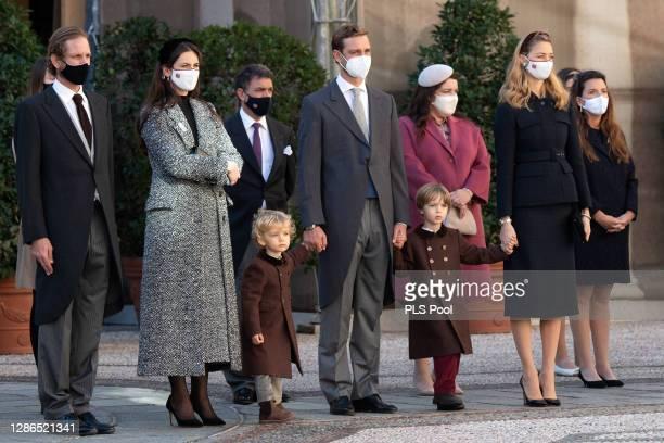 Andrea Casiraghi, Tatiana Santo Domingo,Pierre Casiraghi, wife Beatrice Borromeo and children Stefano Casiraghi and Francesco Casiraghi attend the...