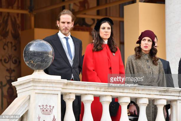 Andrea CasiraghiTatiana Casiraghi and Charlotte Casiraghi attend the Monaco National Day Celebrations in the Monaco Palace Courtyard on November 19...