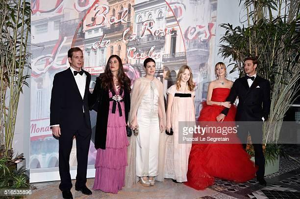 Andrea CasiraghiTatiana CasiraghiCharlotte CasiraghiPrincess Alexandra of HanoverBeatrice BorromeoCasiraghi and Pierre Casiraghi attend The 62nd Rose...