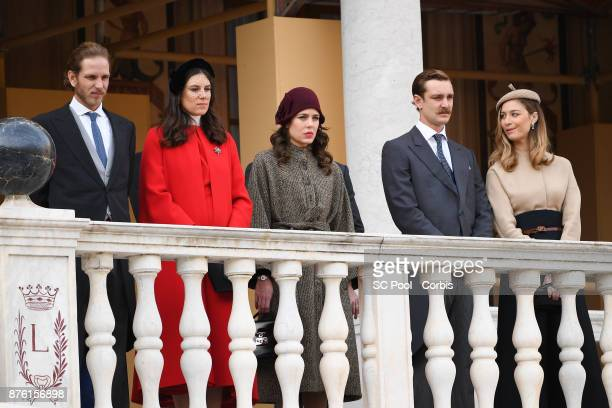 Andrea CasiraghiTatiana Santo Domingo Charlotte Casiraghi Pierre Casiraghi and Beatrice Borromeo attend the Monaco National day celebrations in...