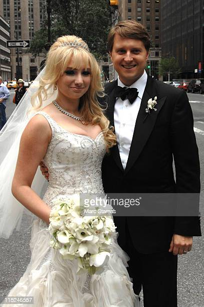 Andrea Catsimatidis and Christopher Nixon Cox pose outside The WaldorfAstoria on June 4 2011 in New York City