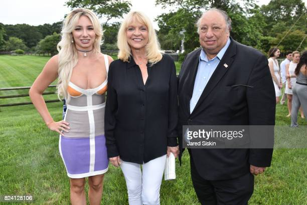 Andrea Catsimatidis Margo Catsimatidis and John Catsimatidis attend the Alzheimer's Association Hosts Rita Hayworth Gala Hamptons Kickoff Event at a...