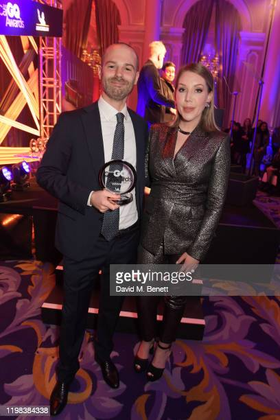 Andrea Cavedagni Head of UK at Automobili Lamborghini accepting the Best Automotive Icon award on behalf of the Lamborghini Miura and Katherine Ryan...