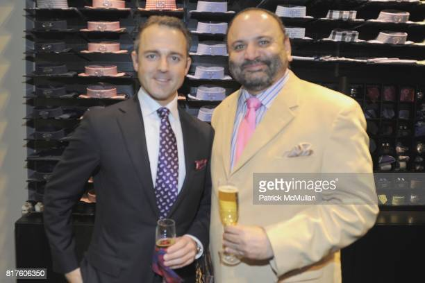Andrea Cerofolini and Lakhinder Jit Singh Gohra attend ETON OF SWEDEN and NY Rangers' HENRIK LUNDQVIST Host The Opening of The New Flagship Store at...