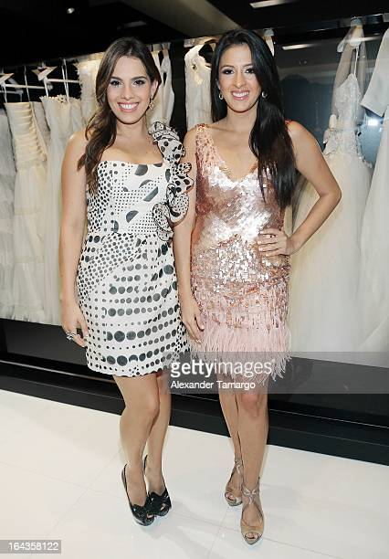 Andrea Chediak and Maria Teresa Interiano attend the grand opening of Rosa Clara store on March 22 2013 in Coral Gables Florida