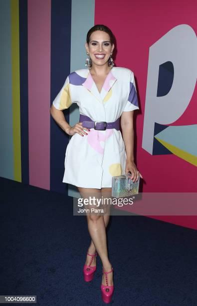 Andrea Chediak arrives at Univision's Premios Juventud 2018 at Watsco Center on July 22 2018 in Coral Gables Florida