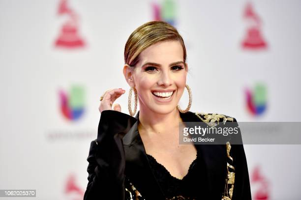 Andrea Chediak attends the 19th annual Latin GRAMMY Awards at MGM Grand Garden Arena on November 15 2018 in Las Vegas Nevada