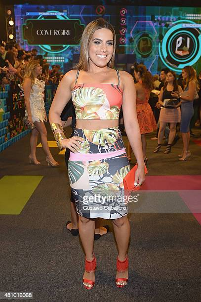 Andrea Chediak attends Univision's Premios Juventud 2015 at Bank United Center on July 16 2015 in Miami Florida