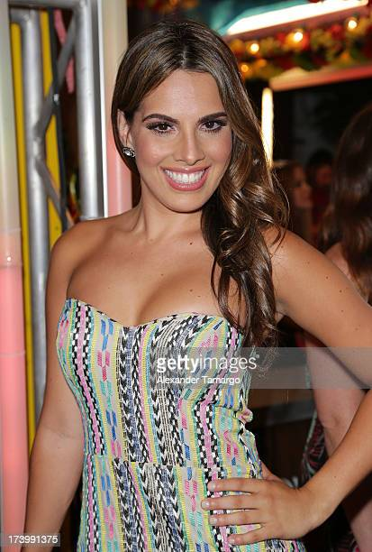 Andrea Chediak attends Univision's Premios Juventud at Bank United Center on July 18 2013 in Miami Florida