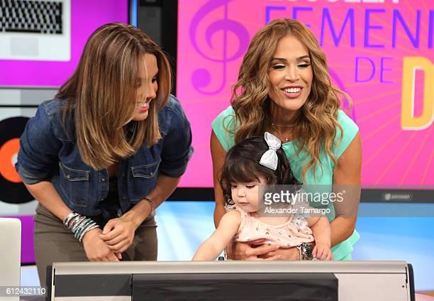 Andrea Chediak Giulietta Martinez and Karla Martinez are seen on the set of Despierta America at Univision Studios on October 4 2016 in Miami Florida
