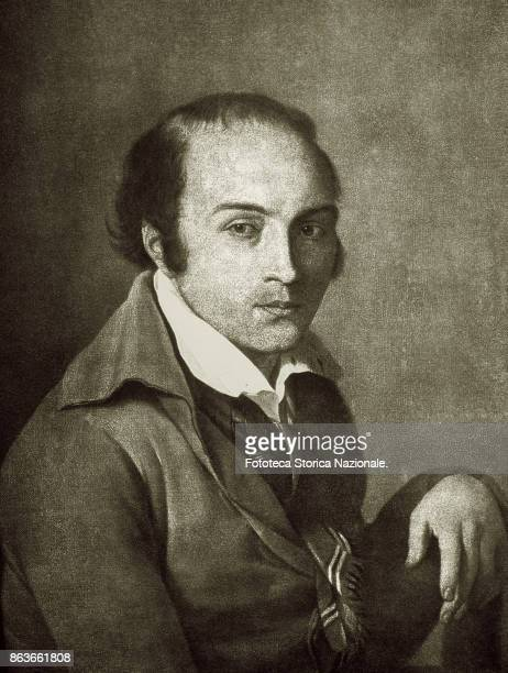 Andrea Chénier French poet against the bourgeois revolution condemned to the guillotine Portrait of him while in the prison of Saint Lazare by Suvée...