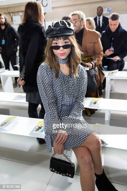 Andrea Chong attends the Michael Kors Collection Fall 2018 Runway Show at the Vivian Beaumont Theatre on February 14 2018 in New York City