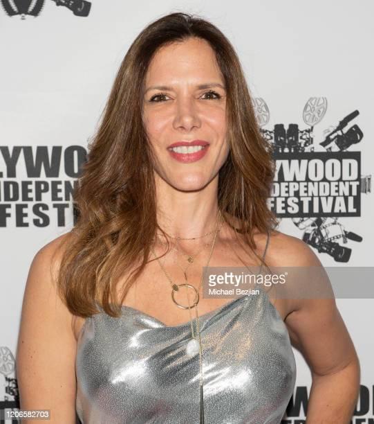 Andrea Codriansky arrives at A Dark Foe Film Premiere on February 15 2020 in Los Angeles California