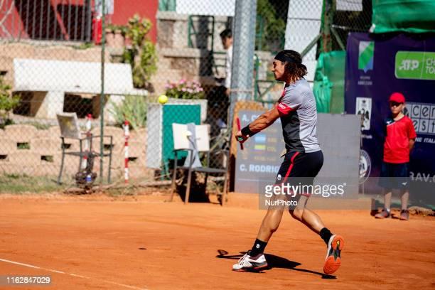 Andrea Collarini during the match between Andrea Collarini and Cristian Rodriguez at the Internazionali di Tennis Citt dell'Aquila in L'Aquila,...