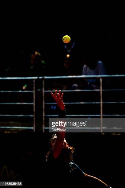 Andrea Collarini during the semi-finals match between Andrea Collarini and Carlos Taberner at the Internazionali di Tennis Citta' dell'Aquila in...