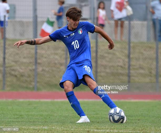 Andrea Colpan of Italy U20 scores goal 30 during the International Friendly match between Italy U20 and San Marino U20 on August 8 2018 in Misano...