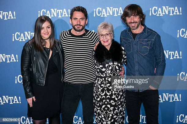 Andrea Compton Paco Leon Concha Velasco and Santi Millan attend 'Canta' photocall at on December 20 2016 in Madrid Spain