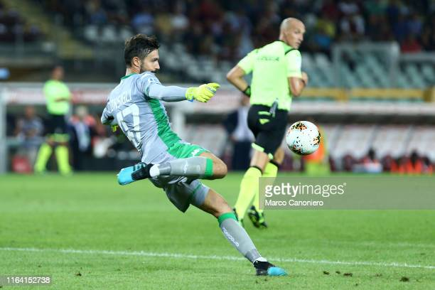 Andrea Consigli of Us Sassuolo Calcio in action during the the Serie A match between Torino Fc and Us Sassuolo Calcio. Torino Fc wins 2-1 over Us...