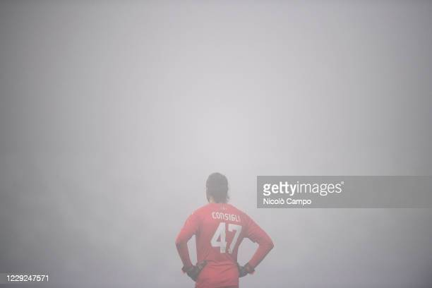 Andrea Consigli of US Sassuolo looks on during the Serie A football match between US Sassuolo and Torino FC The match ended 33 tie